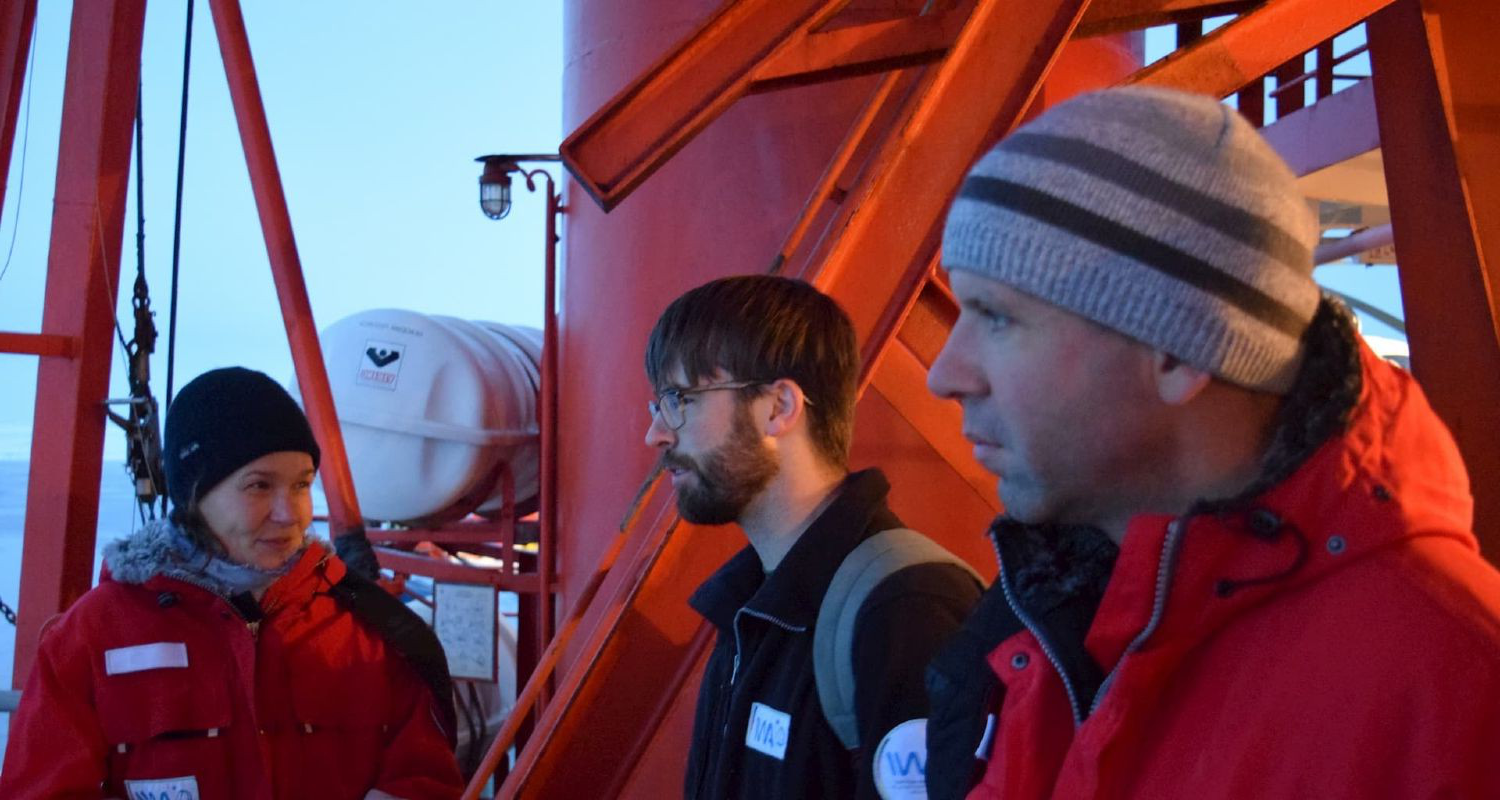 scientists on research vessel
